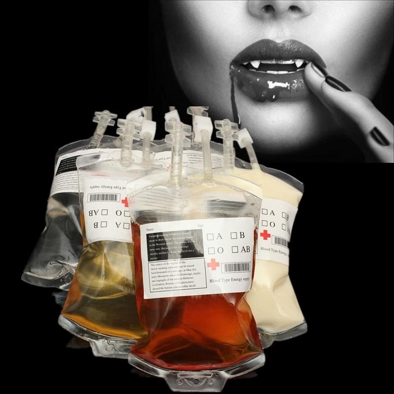 1 unid 300 ml Bolsa de jugo de sangre Vampire Energy Pouch Material - Organización y almacenamiento en la casa