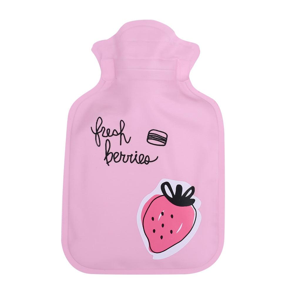 Грелка для рук теплая водонепроницаемая сумка для горячей воды горячий Подарочный пакет Прочный ПВХ+ EVA прочный - Цвет: Strawberry