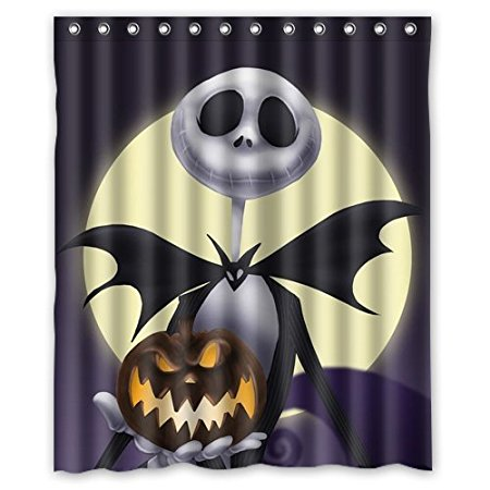 christmas decorations for home jack skellington funny 160x180cm fabric bathroom accessories shower curtain in shower curtains from home garden on - Jack Skellington Christmas Decorations
