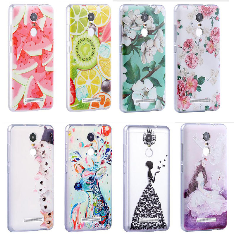 Hot D Soft back case for Xiaomi Redmi note phone Case Cover