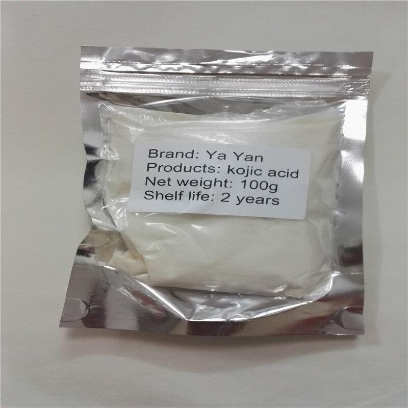 100 gramos Pure 99% Ácido Kójico anti peca tratamiento eliminación edad aligeramiento de la piel se desvanecen peca pigmento