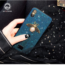 Luxury Glitter Phone Case For Iphone 7 Shockproof 6 6s 7plus 8 8plus X Blitter Bee Soft Silicone