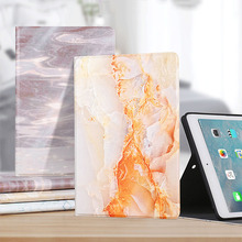 Case For iPad Pro 11 2018 Smart Voltage Case Marble Pattern PU Material Support Protective Cover Case For iPad Pro 11 2018 protective marble pattern hard plastic back case for ipad brown