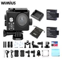 Wimius L2 Cámara de La Acción 4 K Chip de Novatek FPV USB Salida de TV Mini 60fp Sports Cam Full HD 1080 P Ir Impermeable Pro Del Coche de Gran Angular DVR