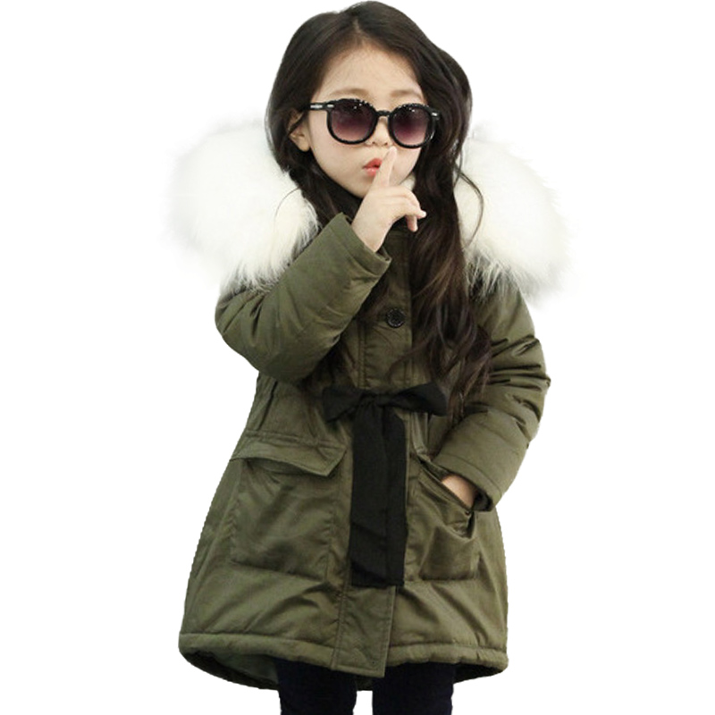 NEW Girl Winter Cotton-Padded Jacket Children's Fashion Coat Kids Outerwear Baby Girl Warm Coat Down Jackets Children Clothing new 2017 men winter black jacket parka warm coat with hood mens cotton padded jackets coats jaqueta masculina plus size nswt015