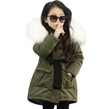 NEW Girl Winter Cotton-Padded Jacket Children's Fashion Coat Kids Outerwear Baby Girl Warm Coat Down Jackets Children Clothing - DISCOUNT ITEM  29% OFF All Category
