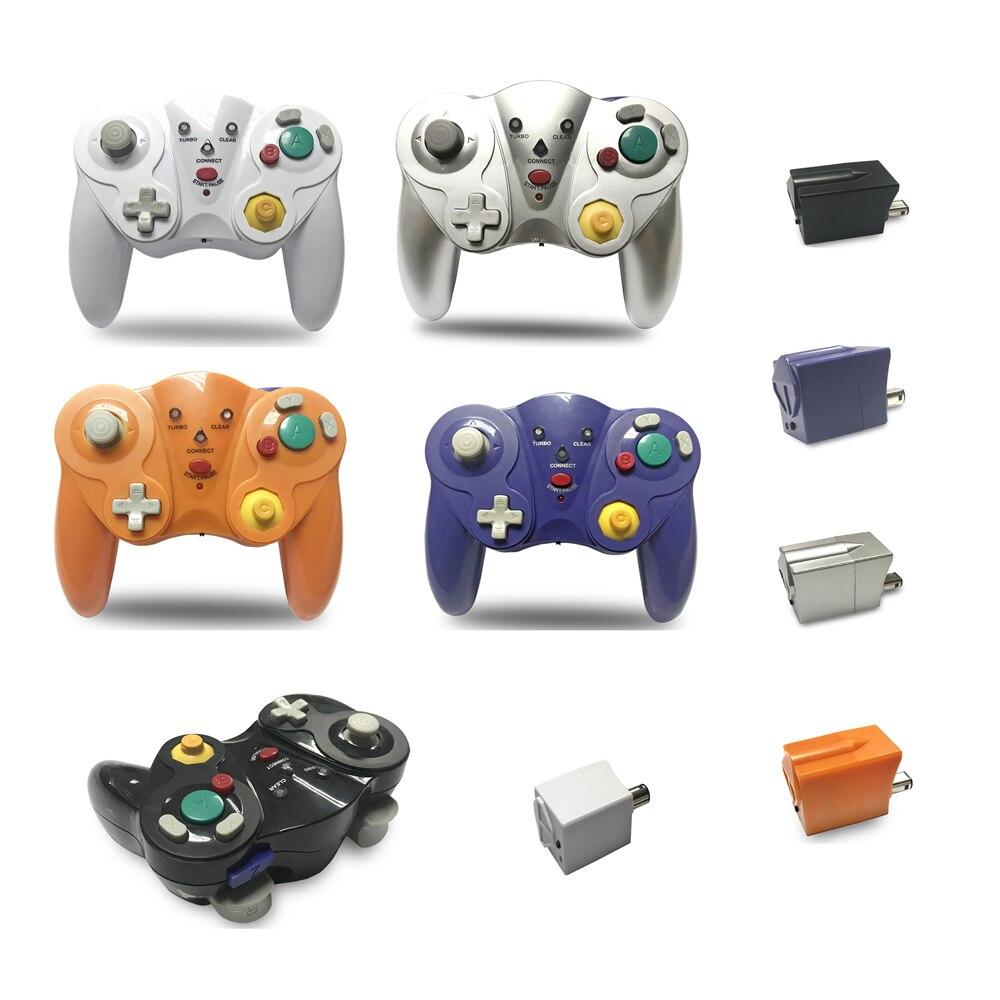 8 pièces 2.4 GHz manette de jeu Sans Fil manette de jeu joystick pour Jeu-Cu-être pour N-G-C pour W-je -je avec choc turbo clair fonction