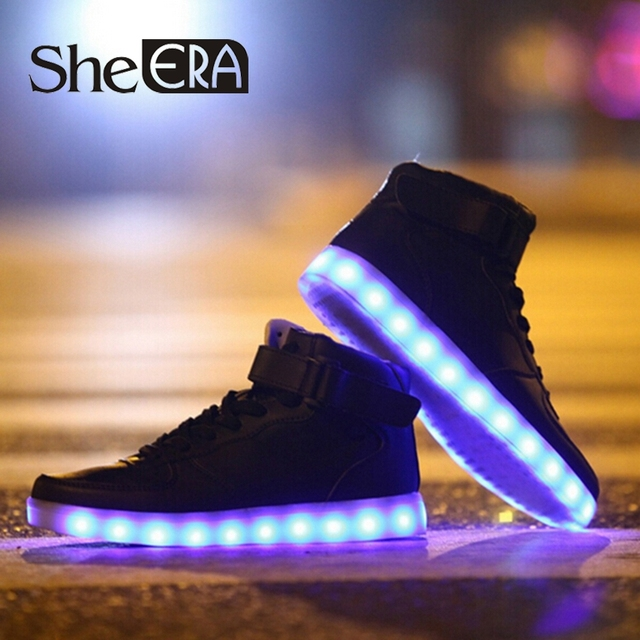 Aliexpress.com : Buy Women LED Shoes Autumn Winter High Top ...