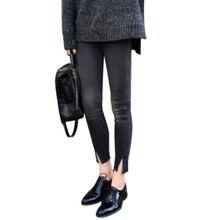 Mulher 2018 Calças Calca Feminina Spodnie Damskie Mulheres Primavera Outono Inverno Bordado Rok Cotton Denim Calças jeans Largas