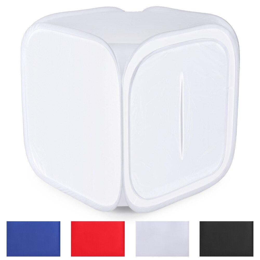 Neewer 60x60 pouces/150x150 cm Photo Studio Tir lampe de tente Diffusion Soft Box Kit avec 4 couleurs Décors pour La Photographie