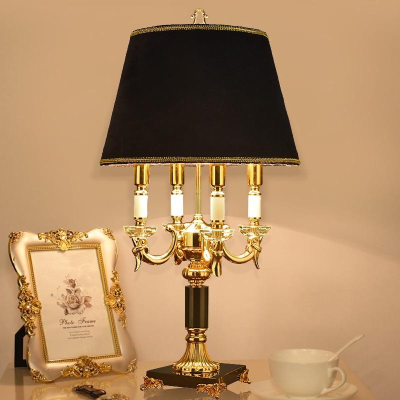 Bedroom Lamps Black: Luxury Fashion Black Crystal Table Lamp Bedroom Bedside