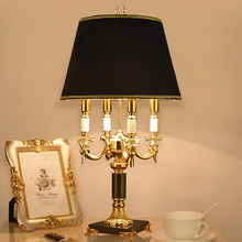 Luxury fashion black crystal table lamp bedroom bedside lamps brief modern decoration led