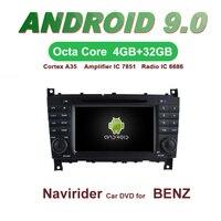 ELANMEY car gps navigation For Benz C Class CLC W203 W467 android 9.0 touch screen CAR multimedia radio bluetooth headunit