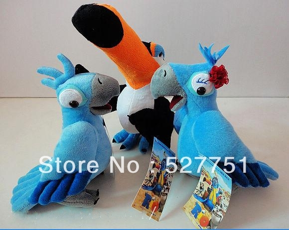 Hot selling Rio parrot plush toy Animation film plush doll valentine's day gift birthday gift christmas gift 3pcs free shipping