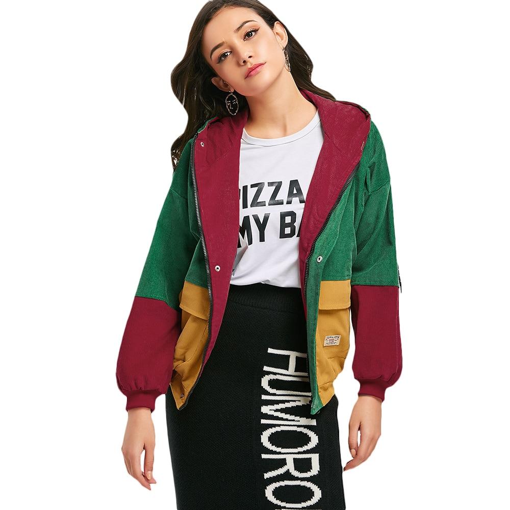 HTB1KG6BbPgy uJjSZR0q6yK5pXat - Jackets Women Hip Hop Zipper Up Hoodies Coat female 2018 Casual Streetwear Outerwear PTC 302