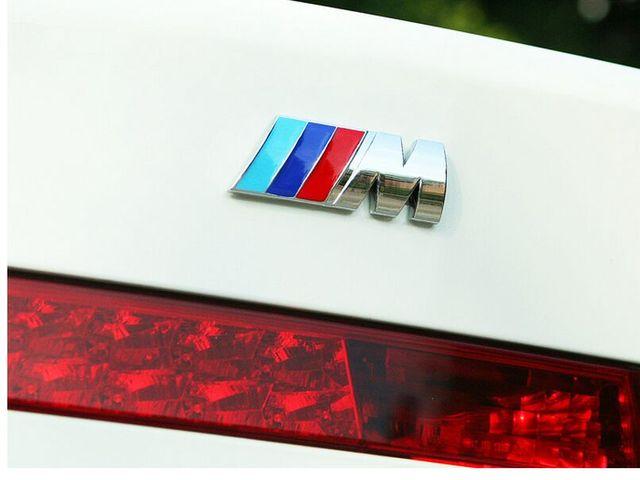 3D Aluminum BMW M3 Stickers