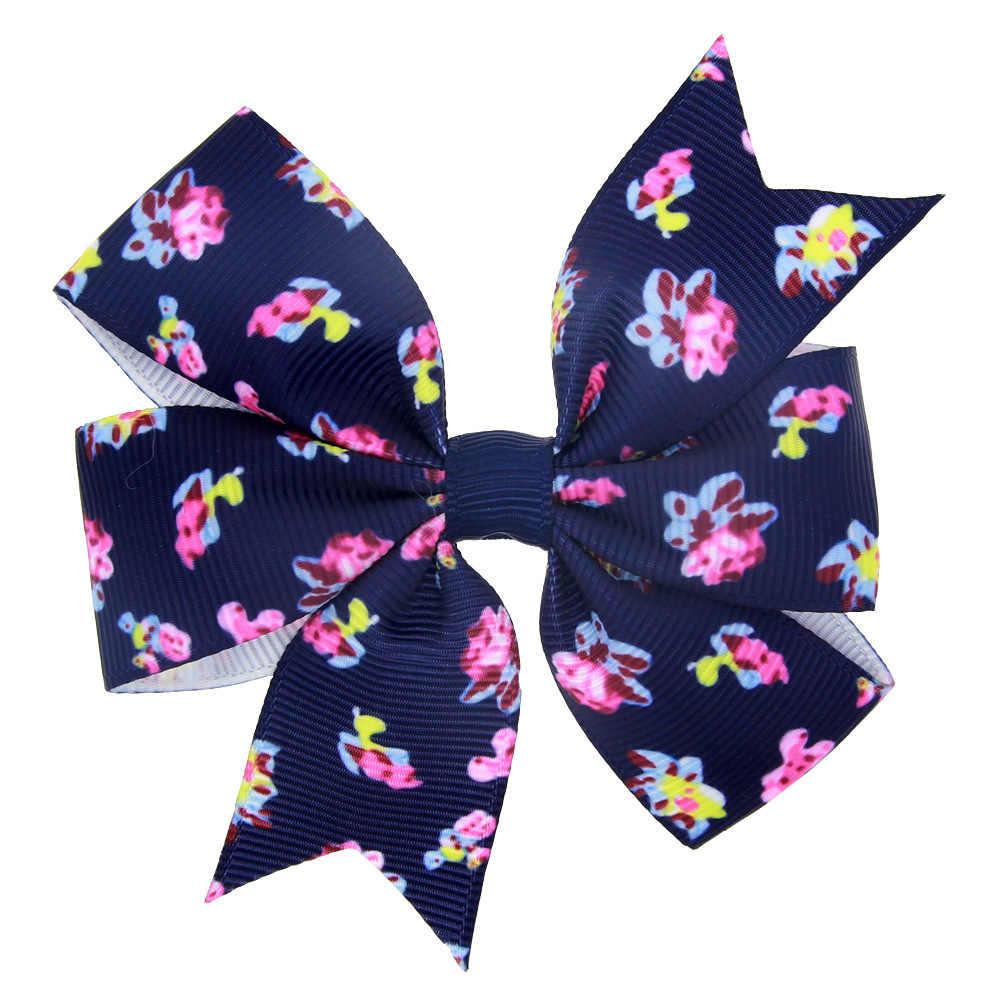 1 قطعة مايا ستيبان موضة الأطفال الفتيات الطباعة ربطة القوس فيونكة دبابيس الشعر مقاطع الشعر الطفل الوليد أغطية الرأس المشابك