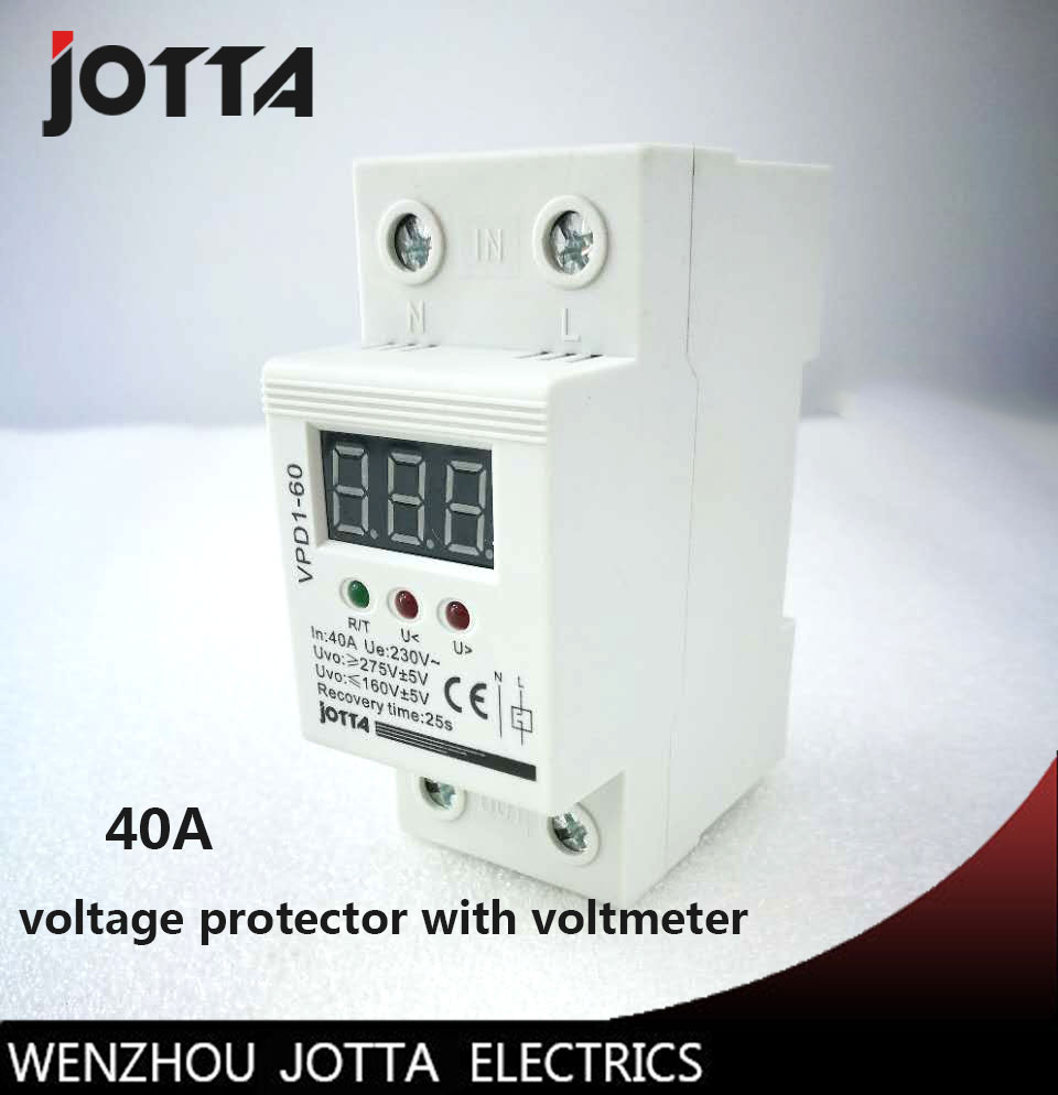 40a 220v Automatic Reconnect Over Voltage And Under Circuit Breaker Auto Parts Timer Wenzhou Buy Air Protection Protective Device Relay With Voltmeter