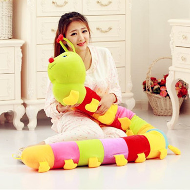 new creative long plush Colorful caterpillar toy lovely stuffed Millipedes doll gift about 190cm the huge lovely hippo toy plush doll cartoon hippo doll gift toy about 160cm pink