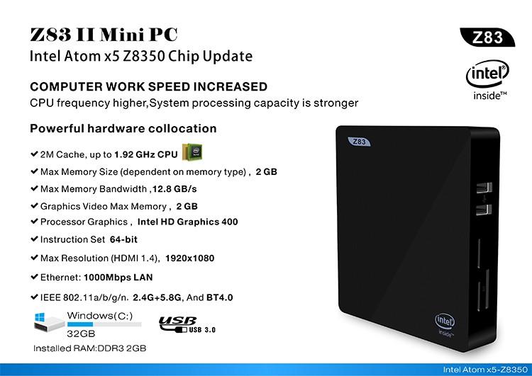 Z83II MiniPC-Intel-x5-Z8350-4