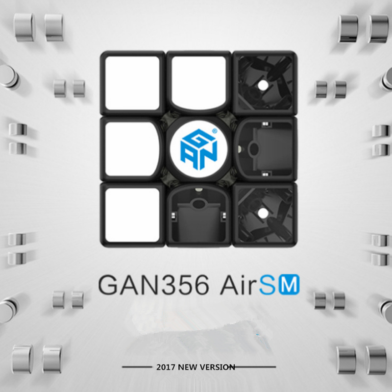 Gan 365 Air SM 3x3x3 Speed Cube Black Color GAN AIR SM Magnetic 3x3x3 Puzzle Speed Cube Educational Learning Toys For Children цена