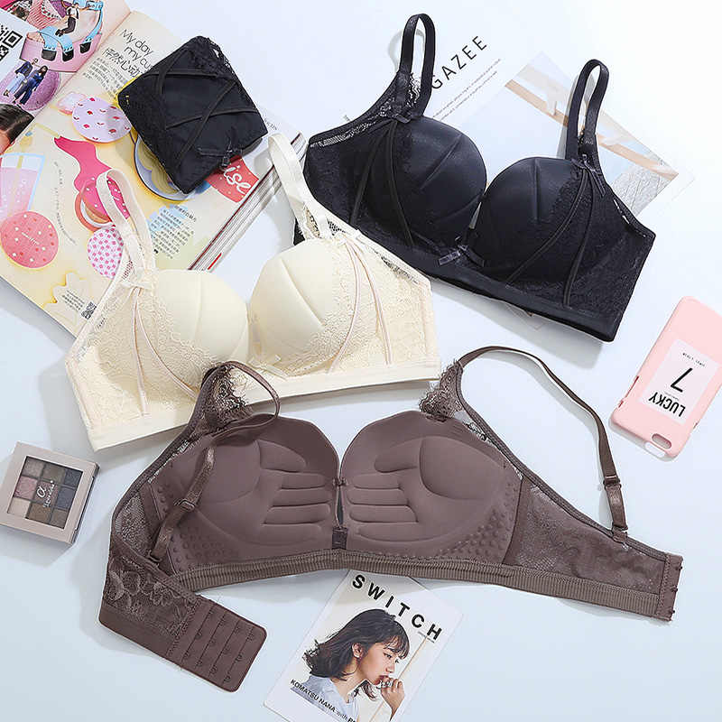 2354b8862d1 ... Small Chest Bras For Women Push Up Lingerie Seamless Bra Wire Free  Bralette Backless Plunge Intimates ...