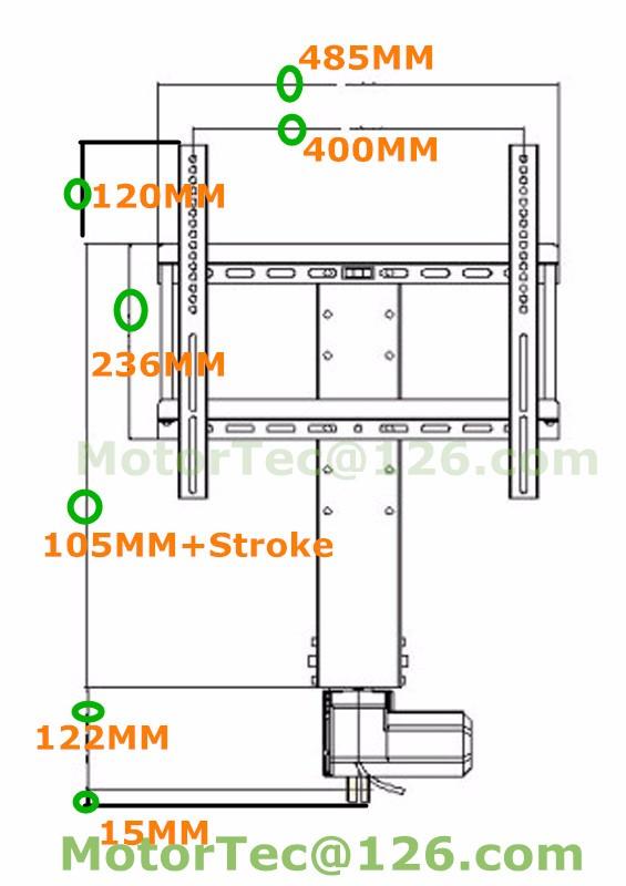 MT TV lift drawing