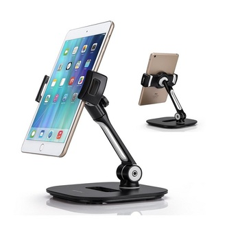 """Aluminum Tablet Stand, Cell Phone Stand, Folding 360degree Swivel for iPad iPhone Desk Mount Holder fits 4-11"""" Tablet samsuang"""
