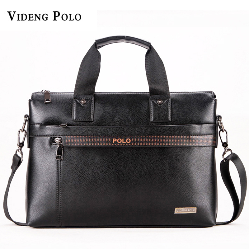 Free Shipping 2017 New Fashion pu Leather Bags for Men famous brand POLO Men's Shoulder Bag Leather Messenger Bag briefcase