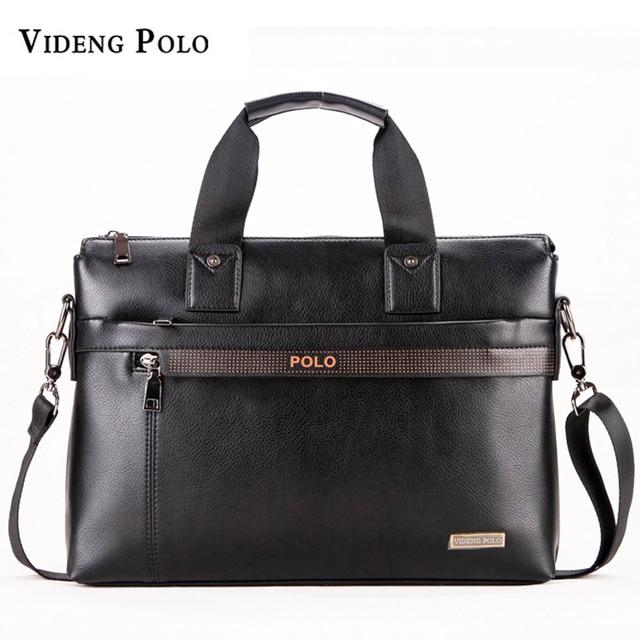 868e7cd505 VIDENG POLO Men Briefcase Brand Business Shoulder Bag Casual Leather  Messenger Bags Computer Laptop Handbag Male Travel Bag 2018