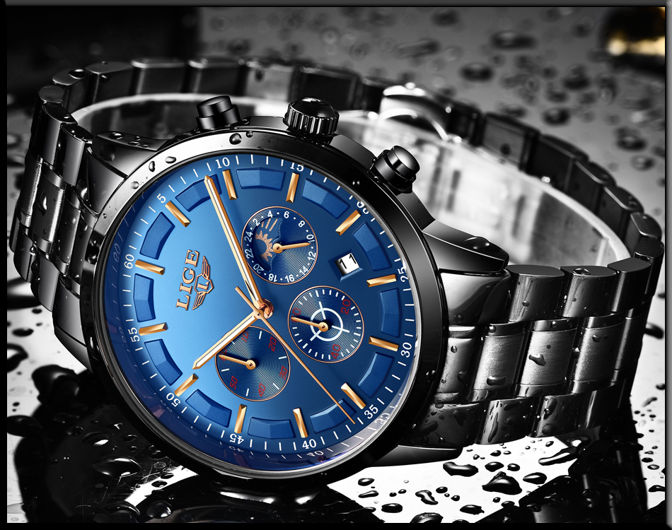 Relojes Watch Men LIGE Fashion Sport Quartz Clock Mens Watches Top Brand Luxury Business Waterproof Watch Relogio Masculino