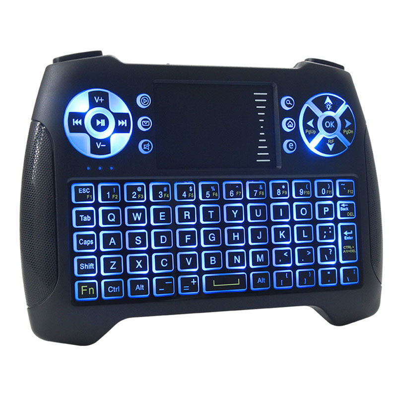2.4GHz Mini Wireless Keyboard Air Mouse English Version NoBacklight QWERTY Keyboard Touchpad Handheld For Android Mini PC TV BOX brand new mini wireless english bluetooth keyboard mouse touchpad for windows android pc