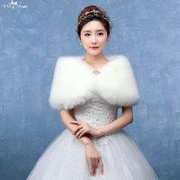LZP132 Volwassen Leuke Vlinder Off Schouder Bruiloft Bolero Off White Winter Wedding Jas