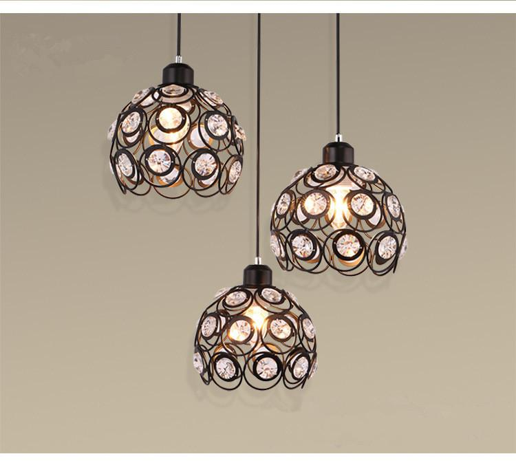Modern Style Crystal Ceiling Lamp Hanging Pendant For Restaurant(Not Including Bulb)
