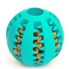 Pet Dog Toys Rubber Ball Toy Funny Interactive Elasticity Chew Food Treat Feeder Tooth Cleaning Chihuahua