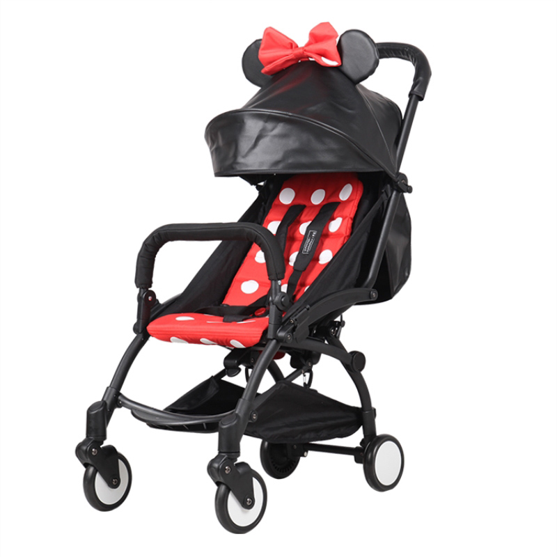 Cute Style Universal Baby Stroller PU Leather Sunshade Canopy and Cushion Cover Stroller Accessories for Baby Stroller poussette esspero canopy
