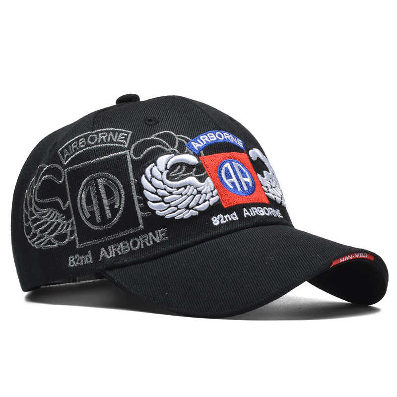 3D Embroidery Army Baseball Cap Men Outdoor Tactical Cap 82nd Airborne Women Snapback Hat Gorras Para Hombre