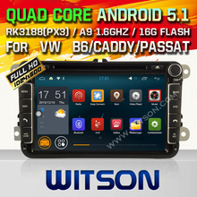 WITSON Quad Core Android 5.1 CAR DVD GPS for VW B6 / CADDY/PASSAT / SAGITAR RK 3188(PX3) CPU 16GB Flash Memory+1024×600 HD