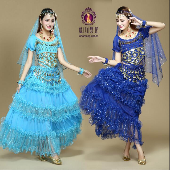 Offre spéciale! 2018 Costume de danse du ventre Sexy pour les femmes Costumes de danse indienne femme Bollywood Costume Dancewear robe de danse du ventre