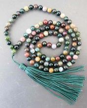 Livraison gratuite @ @ @ bouddhiste tibétain 108 Agate perles de prière collier Mala