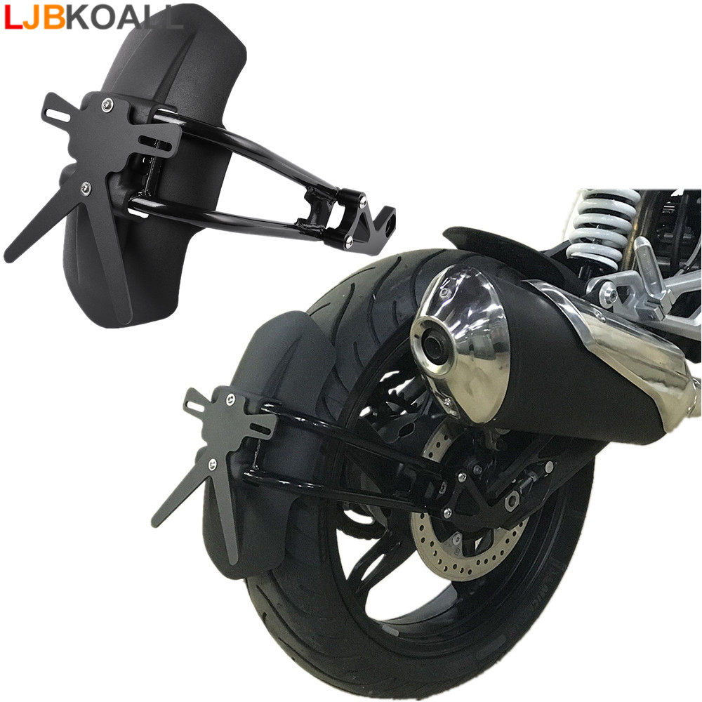 цена LJBKOALL G310 GS R Black Motorcycle Parts Rear Fender Mount Mudguard Wheel Hugger Splash Guard For BMW G310GS G310R 2017 2018