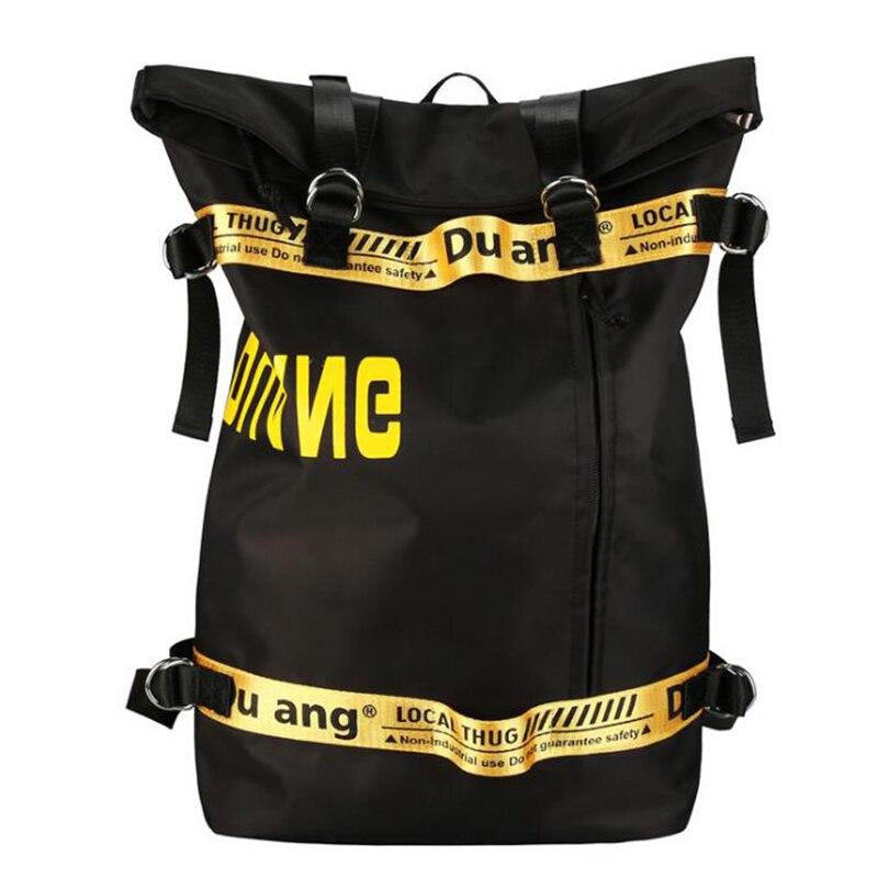 Harajuku Nylon Large Capacity Backpacks Female Street Hip-hop Casual Backpacks Women Men School Bags Travel Rucksack