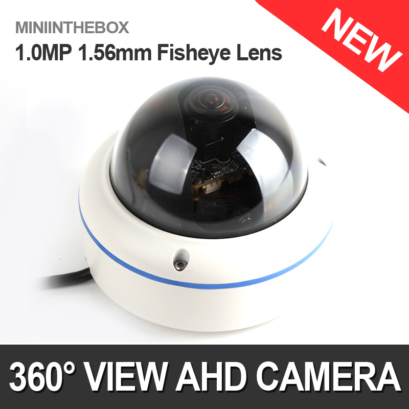imágenes para HD 720 P 1.0MP AHD Cámara 1080 P Al Aire Libre de 360 Grados Fisheye Panorámica Domo de Vídeo de Seguridad de Vigilancia CCTV Cámara A Prueba de agua
