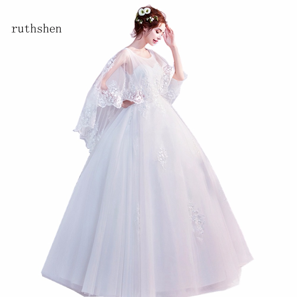 Aliexpress.com : Buy Ruthshen Princess Cap Sleeves Wedding
