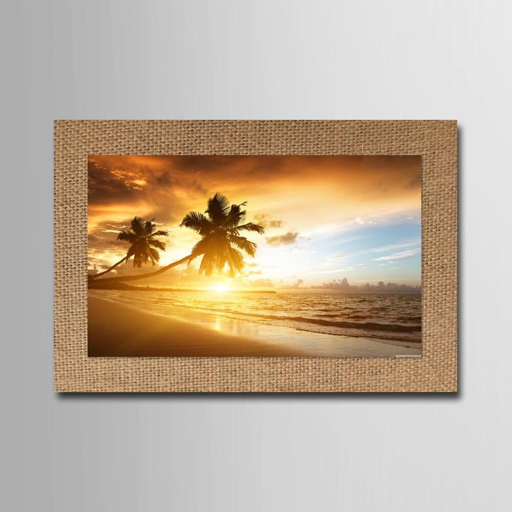ヾ(^▽^)ノSin marco árbol de coco en la playa sillas moderno cuadro ...