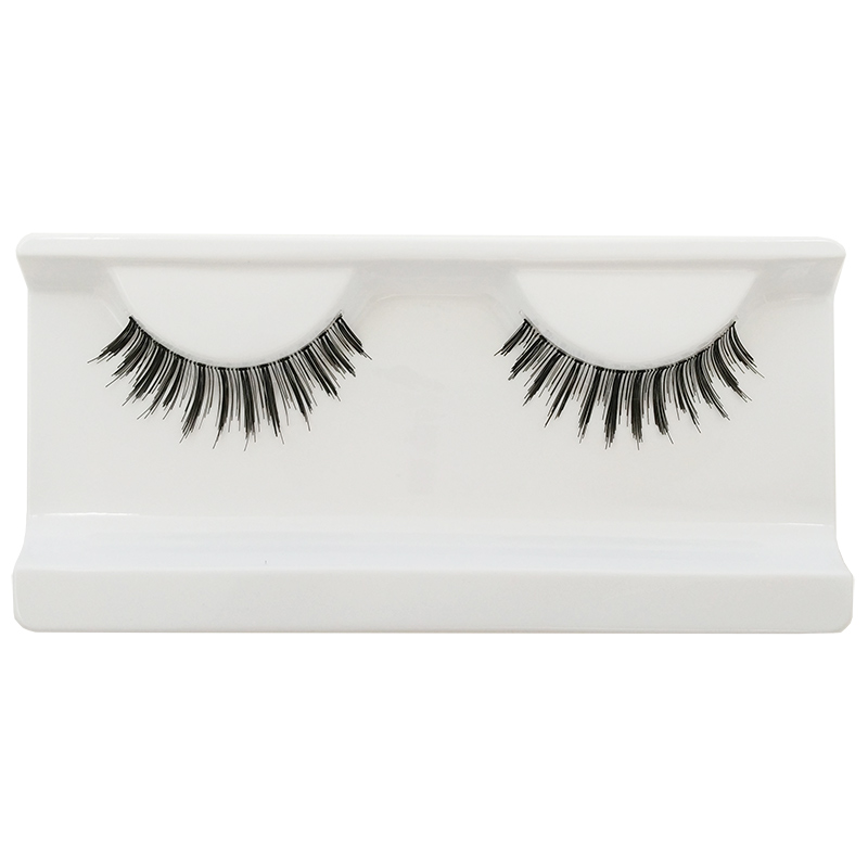US $1 99 |1 Pair natural handmade black lashes synthetic hair makeup  transparent band fake false eyelashes, #6-in False Eyelashes from Beauty &  Health