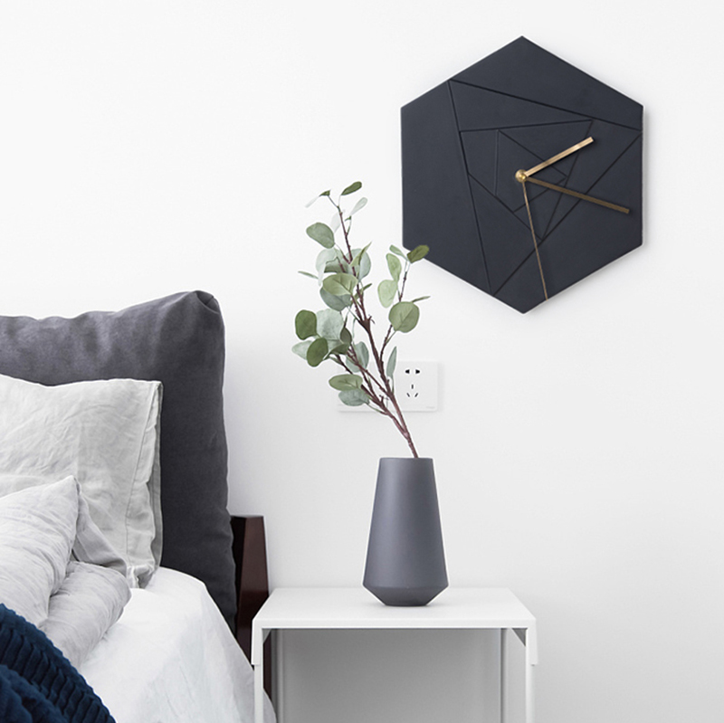 US 4040 240% OFFHexagonal Cement Geometric Pattern Wall Clock Silicone Mold Living Room Bedroom Concrete Gypsum Resin Clock Moldin Clay Molds From Fascinating Mold In Bedroom Creative Property