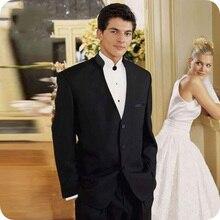 Custom Black Men Suits For Wedding Suits Man Blazers Groom Wear Tuxedo Costume Homme 2Pieces Coat Pants Slim Fit Terno Masculino