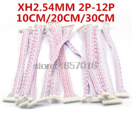 10Pcs/Lot 10cm 20cm 30cm 2P 3P 4P 5P 6P 7P 8P 9P 10P JST XH Connector Cable Wire 2.54mm Pitch Female to Female