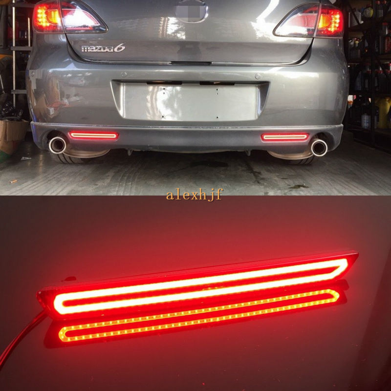 купить Varthion LED Light Guide Brake Lights Case for Mazda 2 3 6 8 Atenza Axela, Brake + Turn Signal + Night Running Warning Lights дешево